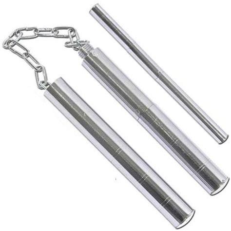 Nunchaku Baton nunchaku ou baton en acier chaine nunchaku couteau azur