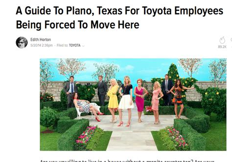 toyota moving to plano so you to move to thanks to liberty and