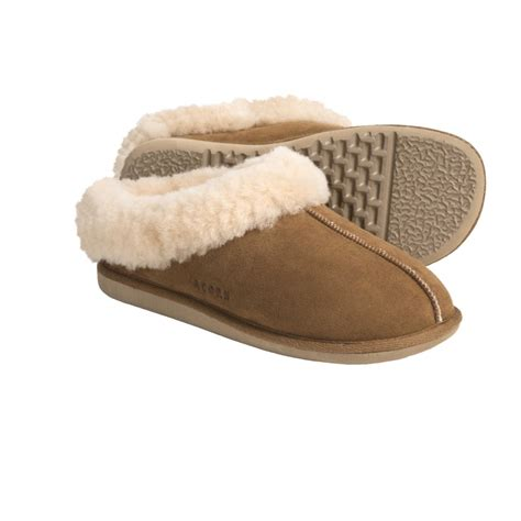 suede slippers acorn klog clog shearling suede slippers womens new
