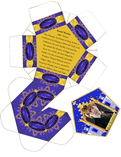 harry potter wizard cards template weasley chocolate frog template png 1 236 215 1 600 pixels