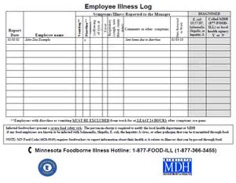 Dwi Records Employee Illness Log Minnesota Dept Of Health