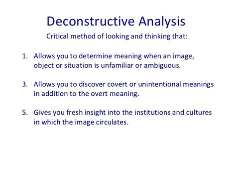 Deconstruction Essay by Derrida Deconstruction Essay