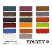 Holden HQ Colour Chart  Colours Pinterest