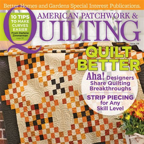 American Patchwork Quilt - american patchwork quilting october 2015