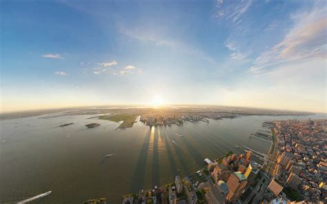 cityscapes new york city wide angle wallpaper 1920x1200