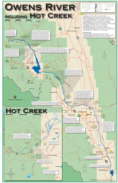 gunnison river 11x17 flyfishing map owens river including creek 11x17 fold out map