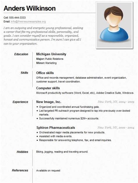 Examples Of Work Resumes by Sample Resume For A Job Sample Resumes
