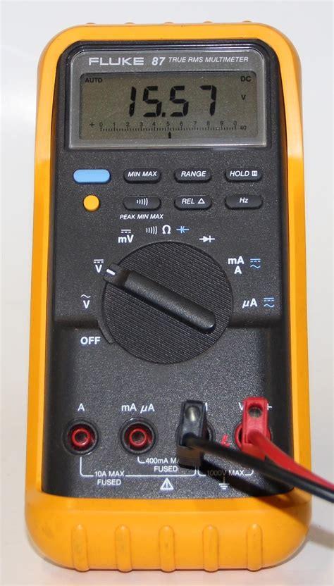 test capacitor with fluke meter testing capacitors with fluke 87 28 images pic16f88 voltmeter vs fluke 87v multimeter doovi