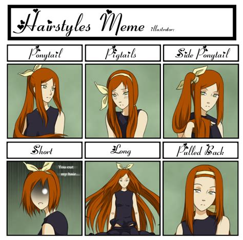 Hairstyle Meme - hairstyle meme by kumkrum on deviantart