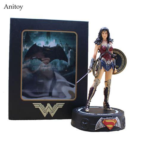 Superman Batman Wonderwoman Krypto Pvc Statue batman statue with light pvc figures collectible model toys 22cm kt3624 in