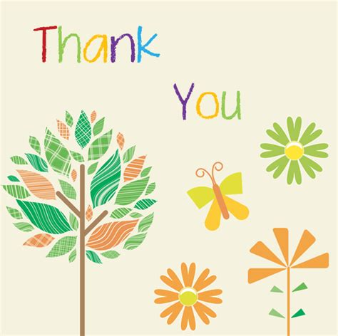 Thank You Card Template With Tree by 10 Thank You Card Templates Word Excel Pdf Templates