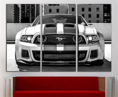 ford mustang home decor ford mustang gt canvas ford mustang gt print ford mustang wall