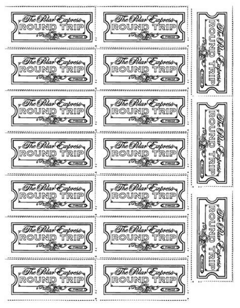 polar express tickets lovetoteach org free printable