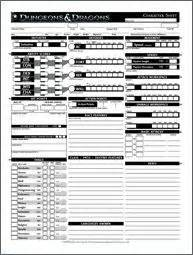 Dungeons And Dragons Character Sheet 5 » Ideas Home Design