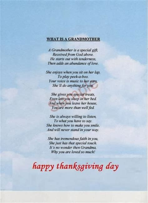 poem for grandparents happy thanksgiving quotes and poems quotesgram