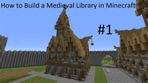 how to build on to your house how to build a medieval library in minecraft part 1 youtube