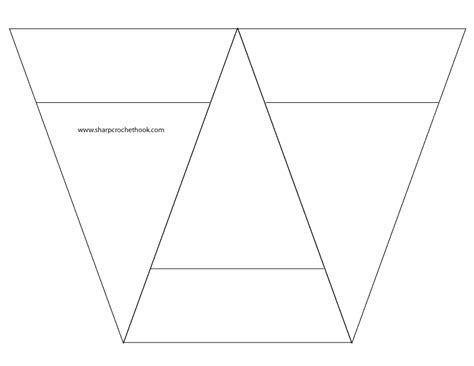 best photos of printable triangle banner template