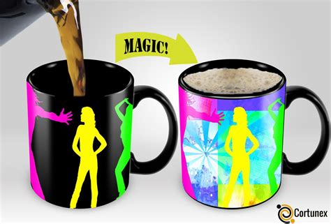 unique mugs magic mugs amazing new heat sensitive color changing