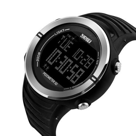 Jam Tangan Pedometer skmei jam tangan digital pria pedometer 1322 black