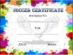 Free Award Certificates Templates To by 30 Soccer Award Certificate Templates Free To