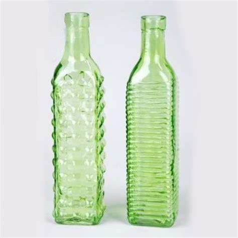 deko flaschen deko glasflaschen viereck gr 252 ne flaschen aus glas 24 st 252 ck