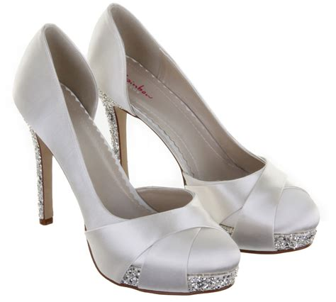 Ivory And Silver Wedding Shoes by Rainbow Club Wedding Shoes Platform Bridal Shoes