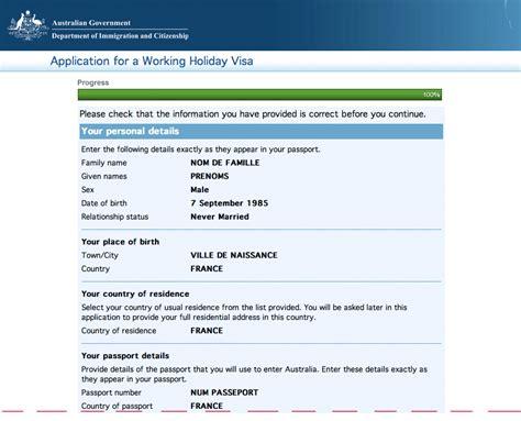 Modã Le De Demande De Visa Sã Jour Tutoriel Demande De Whv Australie Pas 224 Pas