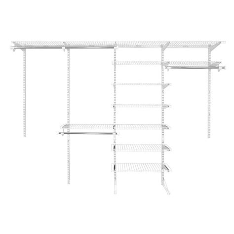 Wire Closet Shelving Parts by Shop Rubbermaid Homefree Series 6 Ft To 10 Ft White