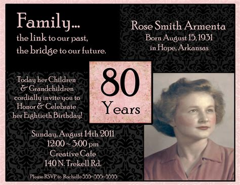80th birthday invitation template invitations on birthday invitations 90th