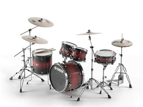 Kaos 3d Umakuka Drum Set 3d c4d acoustic drum sets