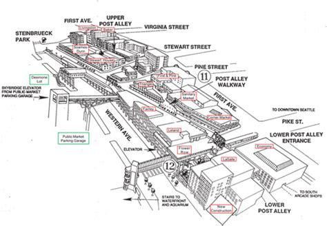 seattle map pike place market wheelchair accessible city attractions seattle wa
