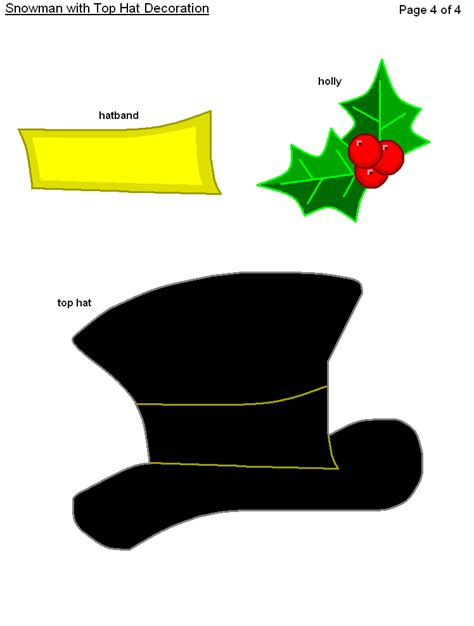 snowman hat template search results for snowman top hat template printable