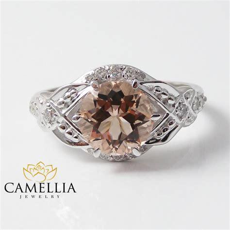 morganite engagement ring wedding ring set