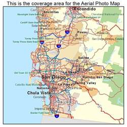 aerial photography map of san diego ca california