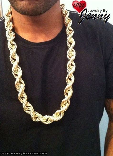 overlap hairstyle over chain 14k gold overlay 20 mm dookie rope chain heavy necklace