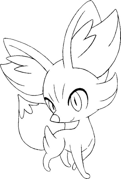 pokemon coloring pages chespin fargelegge pokemon fennekin tegninger pokemon