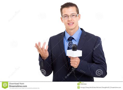 The Reporter news reporter live broadcasting stock photography image