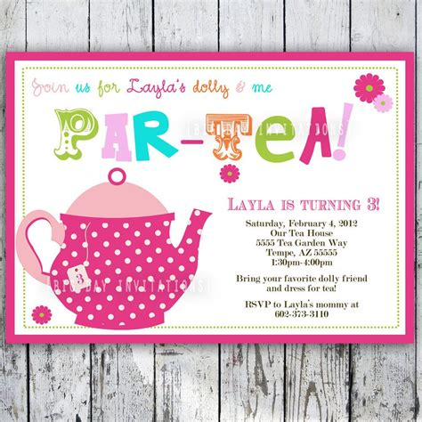 tea party invitation wording tea party invitation wording with some