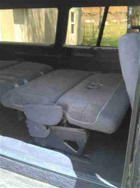 bench seats that fold into a bed find used 1991 ford aerostar mint only 72k