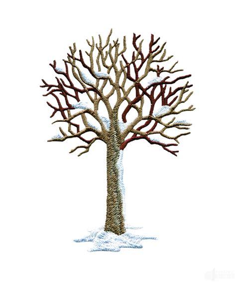 winter tree winter tree embroidery design