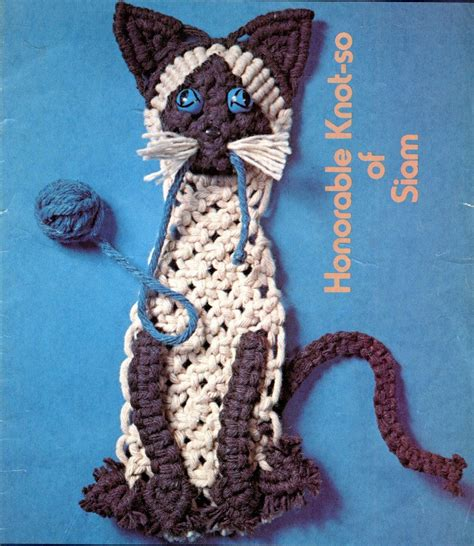 Macrame Animal Patterns - macrame pattern book animal designs cat