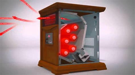 how do infrared heat ls work lifesmart stealth 6 infrared heater youtube