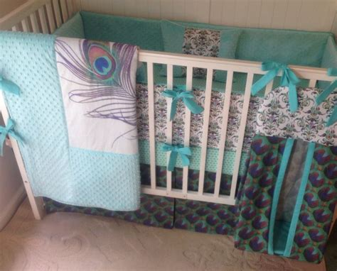 Peacock Baby Bedding Sets 1000 Images About Baby Nursery On Pinterest Gray Crib Crib Sets And Etsy Shop