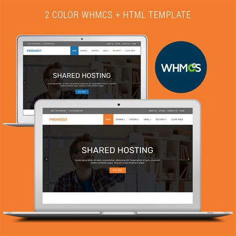 prohost whmcs and html template by redcheap themeforest