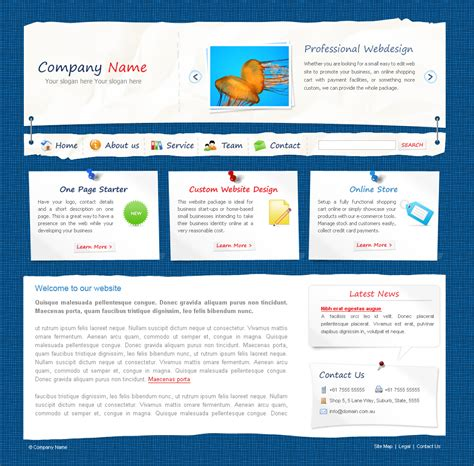 ecommerce website templates for asp net paper made 3 pages photoshop document by dtbaker