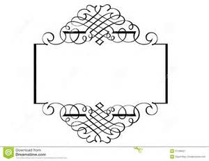 Fancy page border three royalty free stock photography image