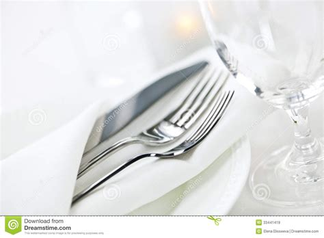 Setting Cutlery For A Dining Table Table Setting For Dining Royalty Free Stock Images Image 33441419