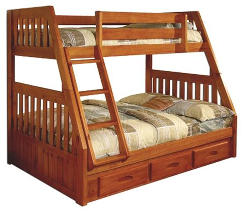 Wood Bunk Beds New Kids Bedroom Furniture Bunk Bed Twin Over Full Bunk