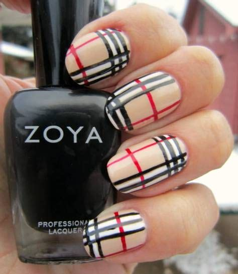 burberry pattern nails burberry nail art for short nails accent burberry nail art