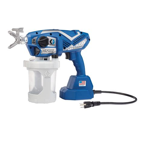 using a home depot paint sprayer graco tc pro corded airless paint sprayer 17n163 the